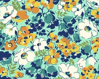 170151 Orange Packed Floral, Hello Jane by Allison Harris Collection