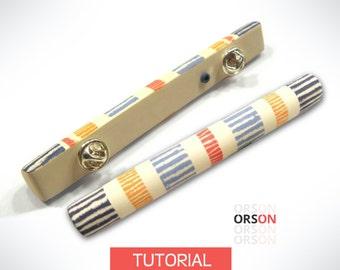 Orson's Hollow stick pin in polymer clay Original tutorial e-book