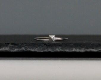 Skinny Sterling Silver Charm Ring