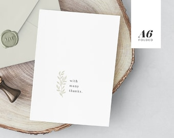 """Thank You Branch • Thank You Card Printable Instant Download • Folded A6 4.5x6.25"""""""