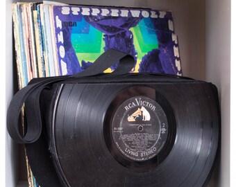 Custom Vinyl Record Purse Pinup Retro Rockabilly Fashion
