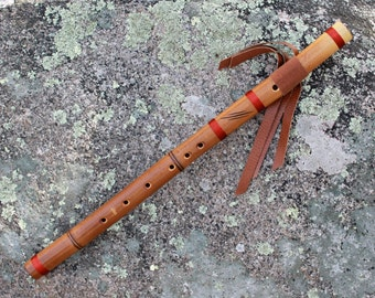 Native American Style Flute, Fire Treated Bamboo