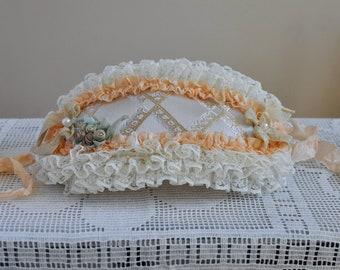 Bonnet for Blythe/ Hat for blythe / Blythe Clothes /Blythe Doll Outfit/ BEIGE-ORANGE hat Blythe
