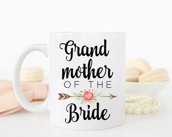 Grandmother Wedding Gift, Grandmother of the Bride gift, Wedding Gift for grandmother, Wedding Thank you gift for Grandmother, Coffee Mug