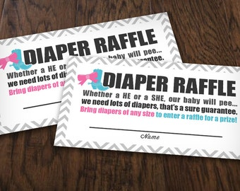 BOOTS or BOWS RAFFLE Ticket in Pink and Teal - Instant Printable Download