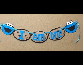 Cookie Monster birthday banner, cookie monster banner, Cookie Monster birthday decorations, cookie monster party