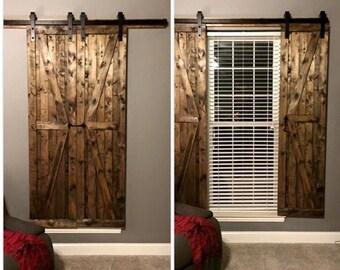 Indoor barn-style shutters
