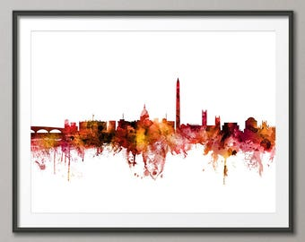 Washington DC Skyline, Washington DC Cityscape Art Print (3118)