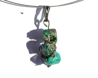 Chrysocolla, turquoise stone jewelry, healing crystal necklace, ethnic pendant, turquoise gemstone necklace jewelry turquoise pendant ahin