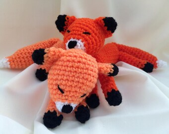 Baby Fox Soft Toy Crocheted Amigurumi Animal