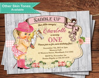 St patrick 3rd birthday invitation boy bday party invite cowgirl first birthday invitation vintage rustic cow girl invitation girl 1st birthday pony filmwisefo