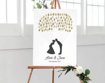 Fingerprint Guest Book | Printable Fingerprint Guestbook | Wedding Fingerprint Guest Book  | Thumbprint Guestbook | Fingerprint Balloon