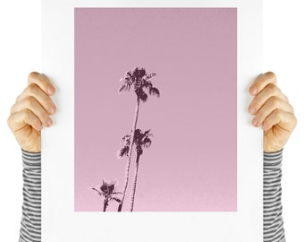 Modern art palm tree print, digital download, instant art, palm springs,  desert,  palm tree print, palm tree poster, palm trees on pink