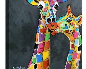"Giclee Canvas Wall Art ""Francie & Josie"" by Steven Brown"