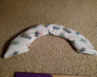 Fun safari neck warmer, microwavable heating pad
