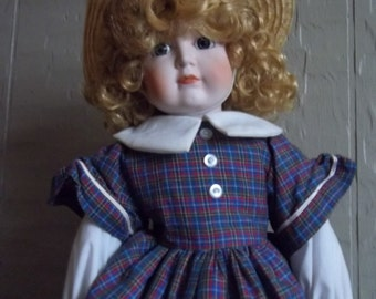 "Antique Guild's Porcelain ""Megan"" 19 inch doll NIB"