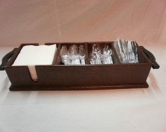 English Chestnut Reclaimed Wood Plasti-ware Tray