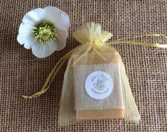 Soap in gift bag, natural soap gift, soap in organza bag, handmade soap gift, handmade soap in bag, artisan soap, natural soap, cruelty free