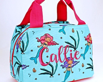 Personalized Lunch Bag Mermaid Insulated Monogrammed School