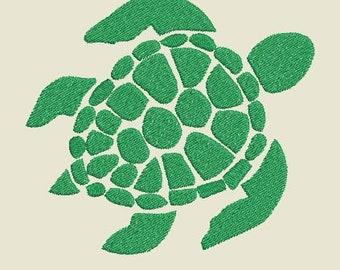 Sea Turtle Machine Embroidery Design