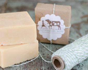 Fresh & Clean Lard Soap // Natural Soap, Jersey Milk Soap, Lard Soap, Cold Process Soap, Farm Soap, Handcrafted Soap