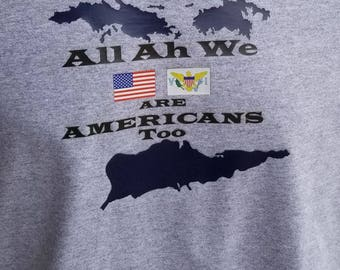 Navy USVI All Ah We Americans Men's T-Shirt