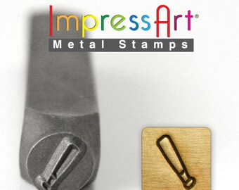 "Baseball Bat Stamp, 6mm 1/4"", Metal Stamp, ImpressArt, Stamping Sports Equipment Tool Jewelry Making Tool"