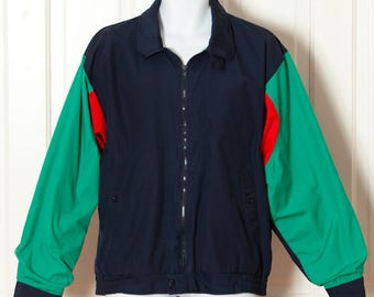 Vintage 80s 90s Multi-colored Spring Jacket - TOP TWENTY