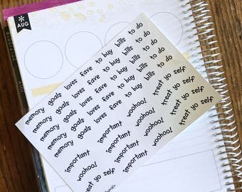 Notes Page Labels (for Erin Condren Life Planner)