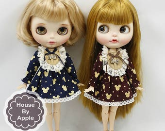 Classical style Lace bow Dress for Blythe licca Doll BD010