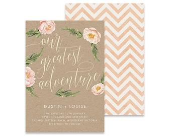 Our Greatest Adventure Wedding Invitation | Julep | Printable DIY Invite, Affordable Wedding Invitation