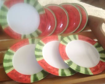 Melamine dishes, Oneida, watermelon, watermelon, watermelon flat flat Oneida, Melmac like