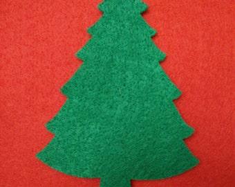 Christmas tree felt ornament - felt board, Christmas activity for toddlers, Kids Christmas gift, felt activity
