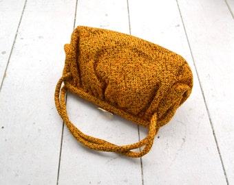 1960s Autumn Tweed Handbag