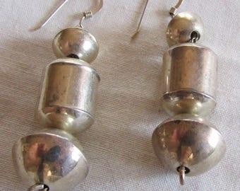 Sterling Silver Bead Dangle Earrings