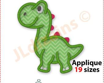 Dinosaur Applique Embroidery Design. Dinosaur applique designs. Dinosaur embroidery design. Dinosaur applique machine embroidery design.