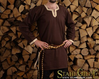 Cotton Viking Shirt; Fantasy Shirt, Men's Medieval Shirt; Cotton Shirt; Viking Costume, Medieval Celtic Viking, long sleeves