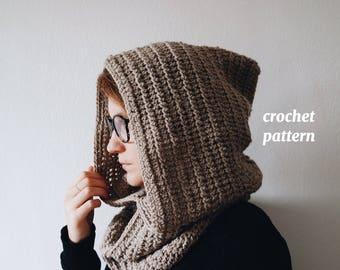 Maxi Crochet Hood, Pattern for a crochet pixie hood
