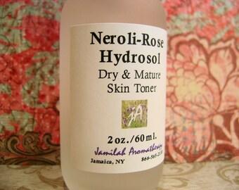 BEST SELLER Organic Neroli-Rose Hydrosol | Sensitive Skin | Dry & Maturing Skin  | Face Toner | Fragrant | Hydrating | 100% Organic Hydrosol