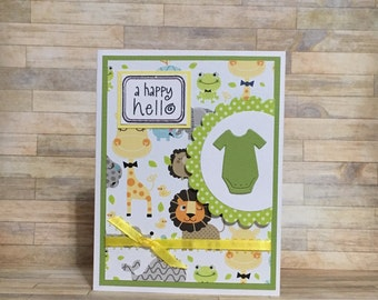 Baby card, congratulations, handmade card, greeting card, all occasion card