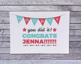 Personalized Congratulations Card