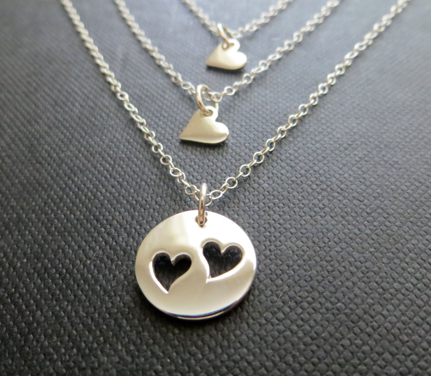 Mother daughter jewelry mother 2 daughters necklace ss zoom aloadofball Image collections