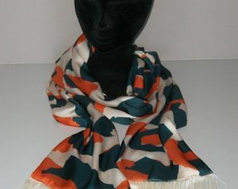Colorful patterns fringe scarves