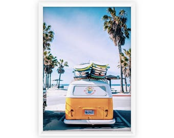 Surfer Van Print * Beach Decor Beach Wall Art Retro Van Tropical Wall Art Beach Print Palm Tree Van Print Palm Leaf Wall Decor Surfer palms