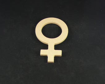 "medium ""women's initials"" shaped blank"