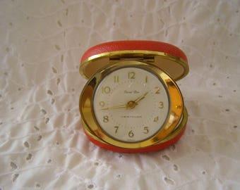 Vintage Red Travel Ben Westclox Alarm Clock ~ Shell