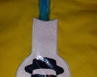 Breaking into Bad  Freezepop sleeve Chemistry Heisenberg round boiling flask Nerdy Machine embroidery design