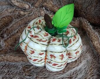 Fabric pumpkin | Fall Decoration | Thanksgiving Decor || Stuffed pumpkin