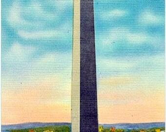 Vintage Washington DC Postcard - The Washington Monument (Unused)