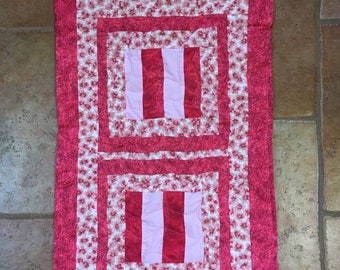 Pink Quilted Travel Changing Pad